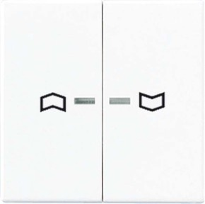 Jung Wippe Symbole aluminium für Taster 2-fach A 595 KO5P AL
