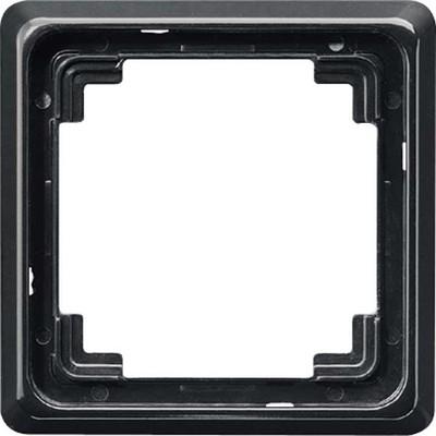 Jung Rahmen 1-fach schwarz waage/senkrecht CDP 581 SW
