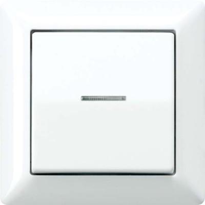Jung Abdeckung Lichtleiter weiß für Taster AS 590 KO5