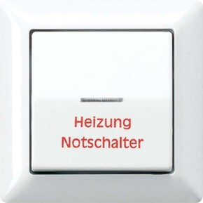 Jung Abdeckung Heiz/Nots.aws für Schalter AS 590 H WW
