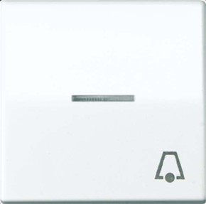 Jung Wippe Symbol KLINGEL weiß für beleuchtb.Taster AS 591 KO5 K