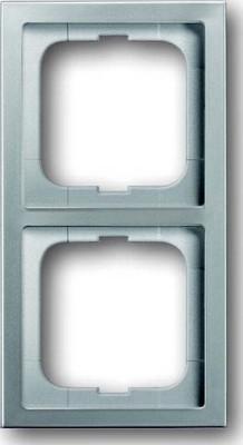 Busch-Jaeger Rahmen 2-fach pur edelstahl 1722-866K