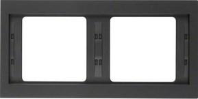 Berker Rahmen K.1 2-fach ch waager. anthrazit 13637006