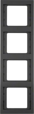 Berker Rahmen K.1 4-fach ch senkr. anthrazit 13437006