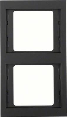 Berker Rahmen K.1 2-fach ch senkr. anthrazit 13237006