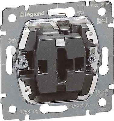 Legrand (BT) Wippschalter-Einsatz Univ. Aus-/ Wech.1p. 775806