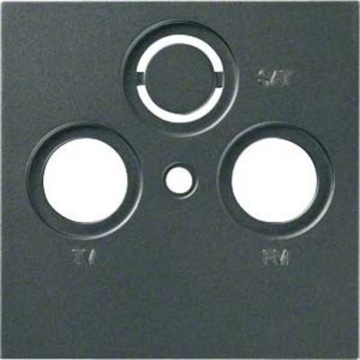 Hager Abdeckung anthrazit f.Antennendose 2/3f. WYA207