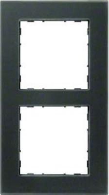 Hager Rahmen 2-f. Glas anthrazit WYR527G