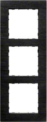 Hager Rahmen 3-f. Alu anthrazit WYR537A