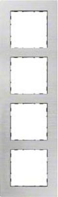 Hager Rahmen 4-f. Alu si WYR546A