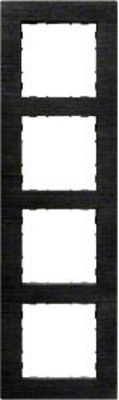 Hager Rahmen 4-f. Alu anthrazit WYR547A