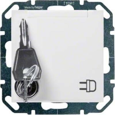 Hager SCHUKO-Steckdose bril/ws mit Klappd.abschl. WYS120