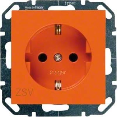 Hager SCHUKO-Steckdose or mit Aufdruck ZSV WYS203