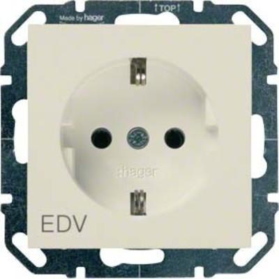 Hager SCHUKO-Steckdose cre mit Aufdruck EDV WYS251