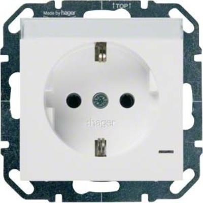 Hager SCHUKO-Steckdose bril/ws mit Kontroll-LED WYS310