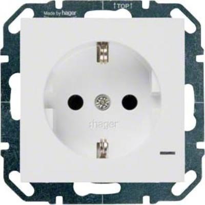 Hager SCHUKO-Steckdose bril/ws mit Kontroll-LED WYS500