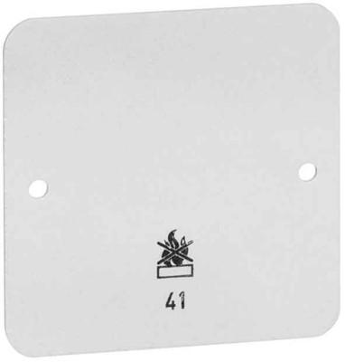 Peha Bodenplatte 3-fach weiß für AP-Gehäuse D 43