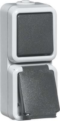 Peha Kombination gr Schalter/Steckdose D 6666 WAB
