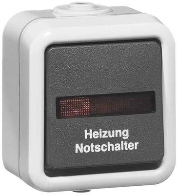 Peha Heizung-Notschalter gr 10A 250V 2-pol.Aus D 622 WAB HN