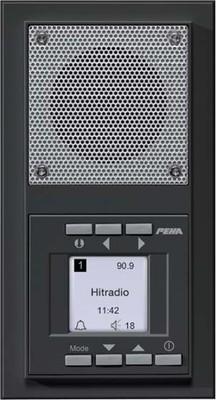 Peha UP-Radio anthrazit waage/senkrecht D 20.485.64 RADIO
