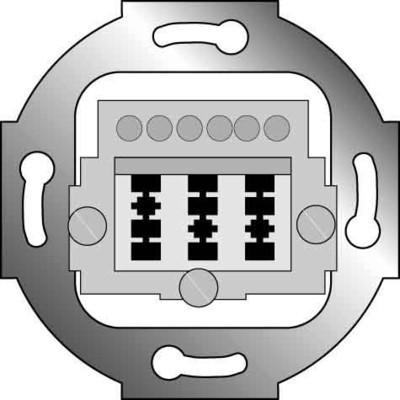 Elso TAE-Fernmeldeanschlußdose 161000 3x6 NFN 161000