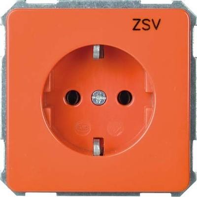 Elso UP-Steckdoseneinsatz ZSV orange 205118