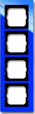 Busch-Jaeger Abdeckrahmen 4 fach blau 1724-288