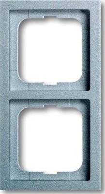 Busch-Jaeger Rahmen 2-fach alusilber, fu.linear 1722-183K