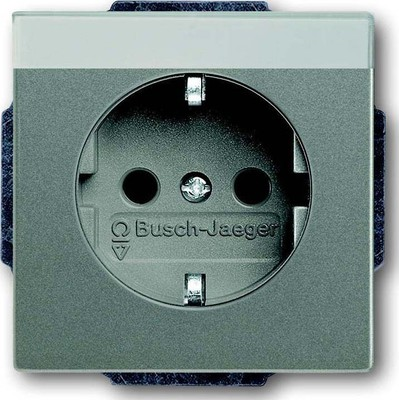 Busch-Jaeger SCHUKO(R) Steckdosen-Eins. m. Beschriftungsfeld 20 EUN-803
