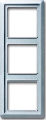 Busch-Jaeger Abdeckrahmen 3-fach ch Rahmen alusilb 2103-33