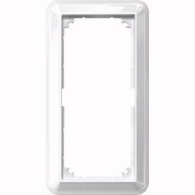 Merten Rahmen 2-fach polarweiß/ glänzend ohne Mittelsteg 388819