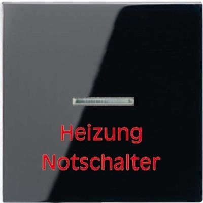 Jung Wippe Aufs.Heizung/Notsch. für Kontrollschalter A 590 H SW