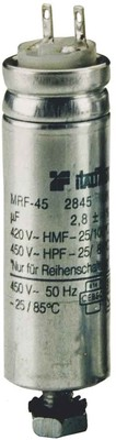 Muecap Leuchtenkondensator mit Lötfahne 2,8mm MFR45-LS1-2,9uF-480V