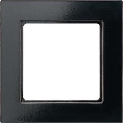 Jung Rahmen 4-fach schwarz waage/senkrecht AC 584 SW