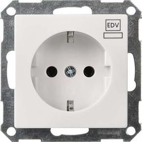 Elso Steckdoseneinsatz reinweiß mit Aufdruck EDV 265104