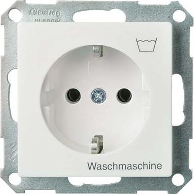 Elso Steckdoseneinsatz reinweiß m.Symb.Waschmasch. 265124