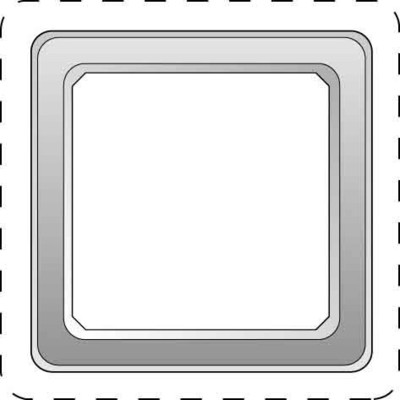 Elso Rahmen 1-fach reinweiß 2030844