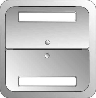 Elso Tastfläche 2-fach aluminium 2033119