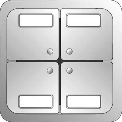 Elso Tastfläche 4-fach aluminium 2033219
