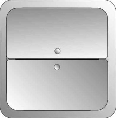 Elso Tastfläche 2-fach edelstahl 2033511