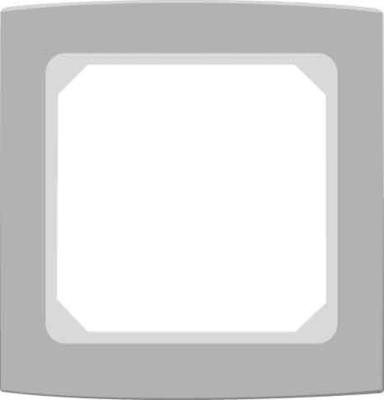 Elso Abdeckrahmen 1-fach anthrazitgrau 2041231