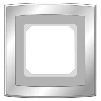 Elso Metallrahmen 1-fach edelstahleffekt 2041411
