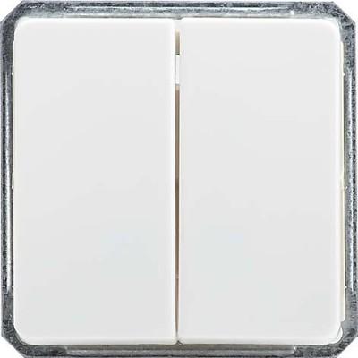 Elso Doppel-Wechselschalter perlweiß mit Wippe 212660