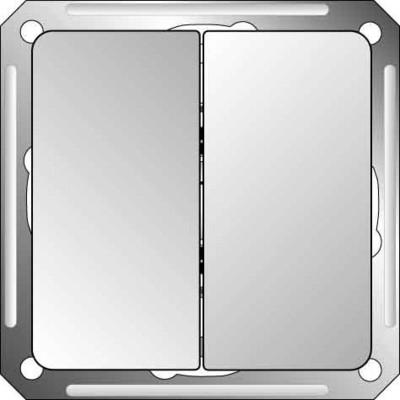 Elso Doppel-Wechseltaster Edelstahleffekt 2126611