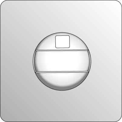 Elso Zentralplatte Jalousie edelstahleffekt 2230411
