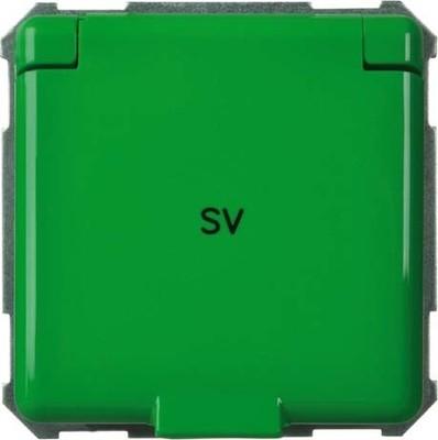 Elso Steckdoseneinsatz grün 225137