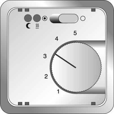 Elso Zentralplatte Temperatur anthrazitgrau 2272031