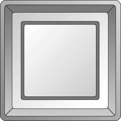 Elso Zentralplatte Drucktaster edelstahleffekt 2330011
