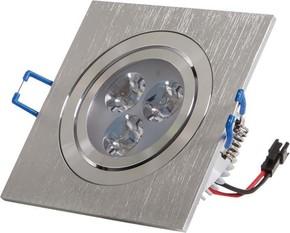 Scharnberger+Hasenbein LED-Einbaustrahler alu-geb 4W 230VAC 6000K 30Gr 53552