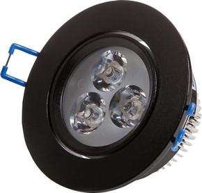 Scharnberger+Hasenbein LED-Einbaustrahler schwarz 4W 230VAC 6000K 30Gr 53558